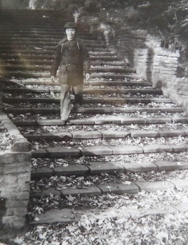 to ja na tych schodach druga połowa lat 70